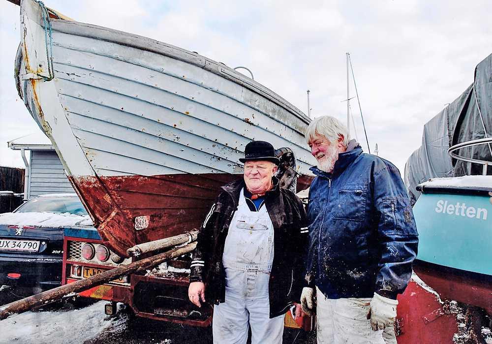 Nicolai Sneum og Mike Barkholt før afgang fra Sletten Havn