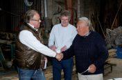 Peter Leander donerer til Saga projektet Hornbæk