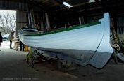 Båden Saga under restaurering