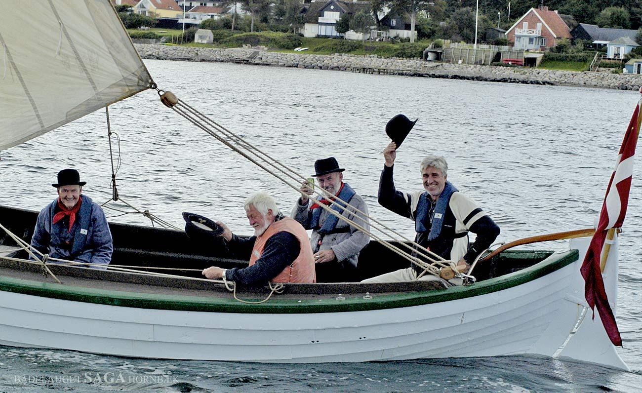 Besætningen på SAGA: Mike Barkholt, Steen Nilsson, Claus Meulengrath og Gert Nielsen.